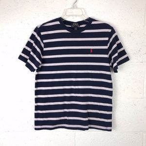 Polo Ralph Lauren Stripped T-Shirt, Size: L(14-16)